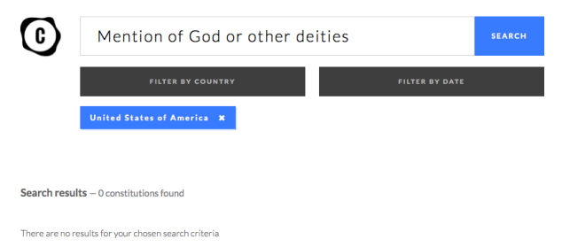 Search for God in US Constitution